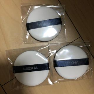 ミシャ(MISSHA)のミシャ  エアインパフ クッションファンデ パフ 新品未開封 3枚(パフ・スポンジ)