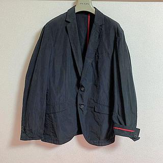 コムサメン(COMME CA MEN)のコムサメン ジャケット 黒 M 赤パイピング 新品未使用(テーラードジャケット)