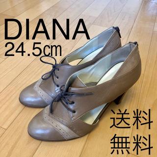 ダイアナ(DIANA)の送料無料 DIANA ダイアナ レースアップ ブーティー ライトブラウン系(ブーティ)