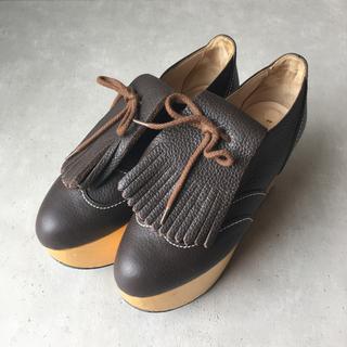 ヴィヴィアンウエストウッド(Vivienne Westwood)のVivienne Westwood ロッキンホース ゴルフ UK3 ブラウン(ローファー/革靴)