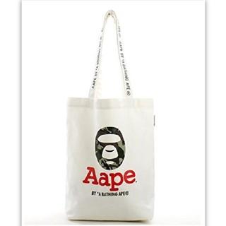 アベイシングエイプ(A BATHING APE)のAAPE BY A BATHING APE -エイプ トートバッグ 白 新品(トートバッグ)