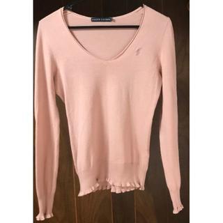 ラルフローレン(Ralph Lauren)のラルフローレン 長袖カットソー ピンク cotton100%(カットソー(長袖/七分))