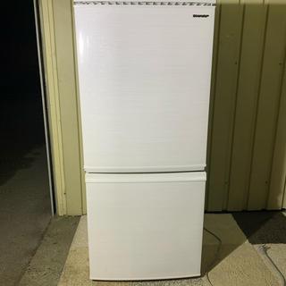 SHARP - SHARP シャープ 冷蔵庫 SJ-D14E-W 2019年製 一人暮らしサイズ