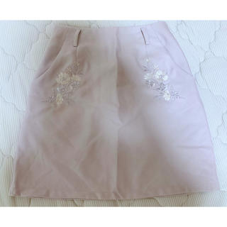 heather - 【Heather】花柄 刺繍スカート