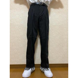 vintage fringe black slacks(スラックス)