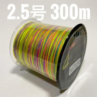 PEライン 2.5号 300m マルチカラー(釣り糸/ライン)