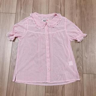 ケイティー(Katie)のKatie  パフブラウス ギンガムチェック ピンク(シャツ/ブラウス(半袖/袖なし))