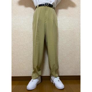 vintage high-waist green slacks(スラックス)