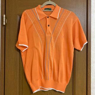vintage baseball summer knit polo shirt(ポロシャツ)