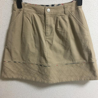 バーバリー(BURBERRY)のバーバリーチェック柄 スカート 150cm ベージュ(ミニスカート)