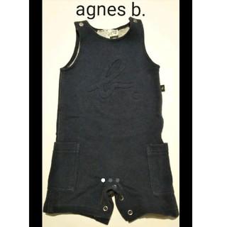 アニエスベー(agnes b.)のアニエスベー ネイビー オーバーオール 80cm(パンツ)
