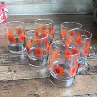 東洋佐々木ガラス - 昭和レトロ SASAKI HARDSTRONG 花柄 レトログラス