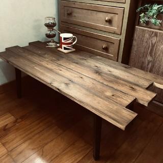 折りたたみ式アンティーク木目調ローテーブル 持ち運び便利☆ウォールナット(ローテーブル)