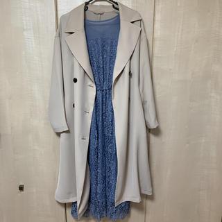 ジーユー(GU)のGUのコート ワンピース セット(ミディアムドレス)