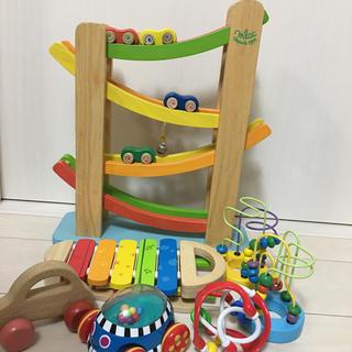 サッシー(Sassy)の木製 スロープ 車 シロフォン 木琴 知育玩具 まとめ売り おもちゃ(知育玩具)