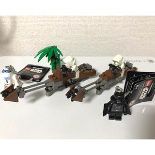 レゴ(Lego)のレゴSW トルーパー&スピーダーバイク ミニフィグ ダースベイダー& R2-D2(SF/ファンタジー/ホラー)