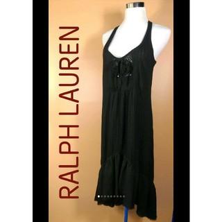 ラルフローレン(Ralph Lauren)のRALPH LAUREN ノースリーブワンピ 状態良好 ナチュラル セクシー♬(ロングワンピース/マキシワンピース)