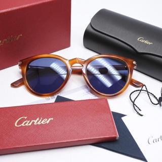 カルティエ(Cartier)のCARTIER カルティエ サングラス 鼈甲 ブルーレンズ アイウェア 正規(サングラス/メガネ)