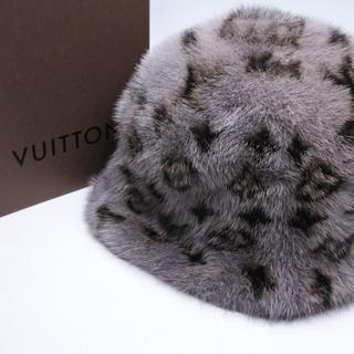ルイヴィトン(LOUIS VUITTON)のLOUIS VUITTON ルイヴィトン 帽子 CAP ハット ミンク 正規(ハット)