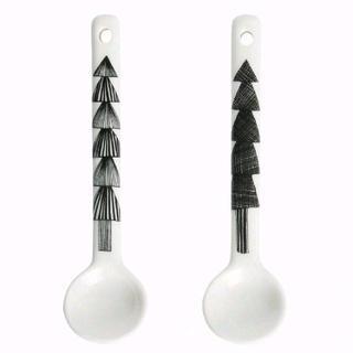 マリメッコ(marimekko)のマリメッコ スプーン 2個セット クーシコッサホワイト×ブラック(カトラリー/箸)