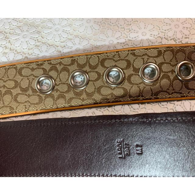 COACH(コーチ)の美品■コーチ3977 シグネチャー ジャガード×レザー カーキ×ベージュ ベルト メンズのファッション小物(ベルト)の商品写真
