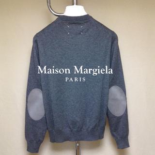 マルタンマルジェラ(Maison Martin Margiela)の新品■S■マルジェラ 18ss■エルボーパッチニット■グレー■8373(ニット/セーター)