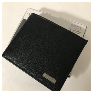 Calvin Klein - 直営店購入 新品カルバンクライン 高級カーフ革15950円 二つ折り財布