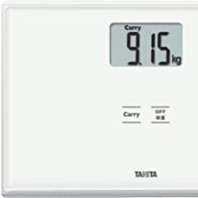 TANITA(タニタ)のタニタ 体重計 ホワイト HD-665 WH 持ったモノの重さがはかれる スマホ/家電/カメラの生活家電(体重計)の商品写真