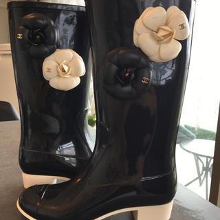 シャネル(CHANEL)のシャネル  レインシューズ 正規品(レインブーツ/長靴)