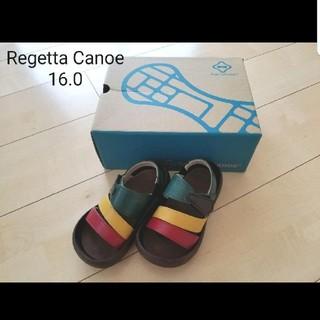 試着のみ☆Regetta Canoe/キッズサンダル/16.0