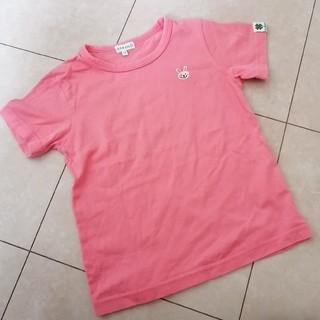 サンカンシオン(3can4on)の3can4on ウサギ刺繍Tシャツ 110(Tシャツ/カットソー)