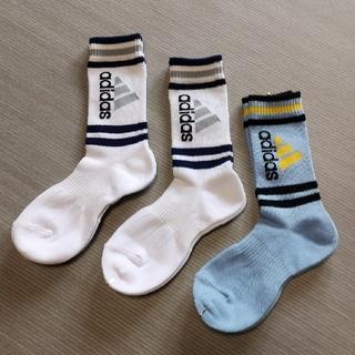 アディダス(adidas)の子供用(19〜21cm)の靴下3枚セット(靴下/タイツ)