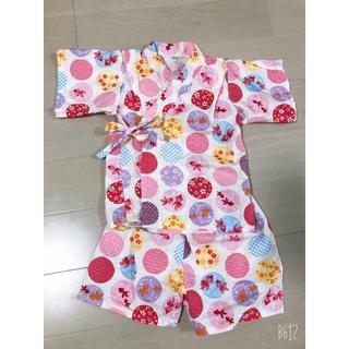 ニシマツヤ(西松屋)の金魚柄甚平 女の子 90 バースデー(甚平/浴衣)