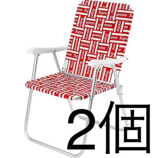 シュプリーム(Supreme)の2個セット 送料込 Supreme Lawn Chair シュプリーム  チェア(折り畳みイス)