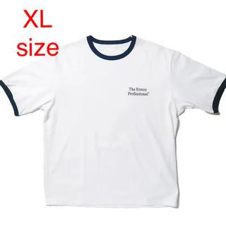 ワンエルディーケーセレクト(1LDK SELECT)のennoy RINGER TEE (WHITE x NAVY)  XLsize(Tシャツ/カットソー(半袖/袖なし))