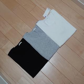 ジーユー(GU)のGUジーユー半袖カットソー白グレー黒L3枚セット(カットソー(半袖/袖なし))