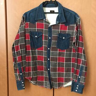 フェローズ(PHERROW'S)の激レア UES ウエス ビンテージ デニムシャツ チェックシャツ(シャツ)