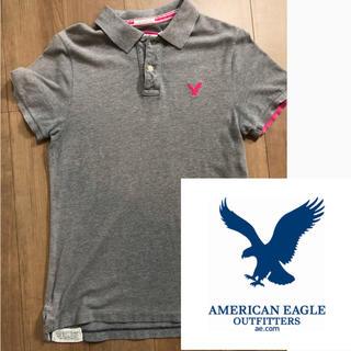 アメリカンイーグル(American Eagle)のアメリカンイーグル ポロシャツ ロゴ 美品 価格交渉ok(ポロシャツ)