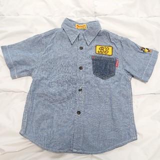 ダブルビー(DOUBLE.B)のミキハウス  ダブルB  Bくん刺繍ダンガリーシャツ  110(Tシャツ/カットソー)