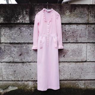 アメリヴィンテージ(Ameri VINTAGE)のVintage 70's Polyester maxi dress(ロングワンピース/マキシワンピース)