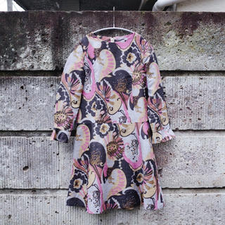 アメリヴィンテージ(Ameri VINTAGE)のVintage Flower printed flare dress(ひざ丈ワンピース)