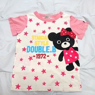 ダブルビー(DOUBLE.B)の【専用】ダブルB メガ!!B子ちゃんの半袖Tシャツ&スターダスト  110(Tシャツ/カットソー)