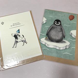 バースデーカード、2セット(カード/レター/ラッピング)