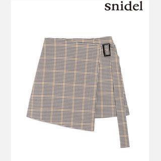 snidel - スナイデル チェッククラップミニスカート