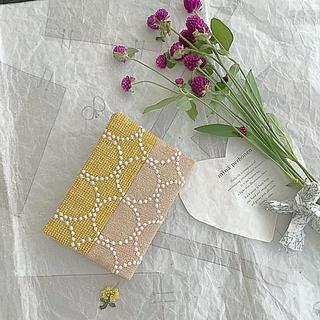 ミナペルホネン(mina perhonen)のタンバリン♡パッチのブックカバー♡文庫本サイズ(ブックカバー)