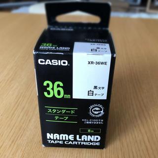 カシオ(CASIO)のカシオ・ネームランド・36mm・白(シール)