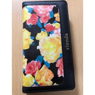 リエンダ(rienda)のrienda  花柄 手帳型 iPhone  6s ケース(iPhoneケース)