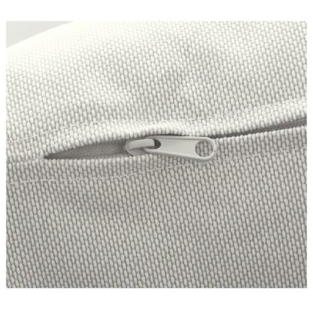 IKEA(イケア)のソーデルハムン3人掛ソファーカバーフィーンスタホワイト未使用 インテリア/住まい/日用品のソファ/ソファベッド(ソファカバー)の商品写真