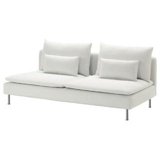 イケア(IKEA)のソーデルハムン3人掛ソファーカバーフィーンスタホワイト未使用(ソファカバー)