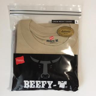 ヘインズ(Hanes)のHanes Beefy L ベージュ(Tシャツ/カットソー(半袖/袖なし))